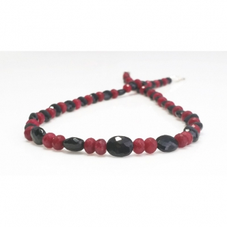 Ruby and Spinel Handmade Necklace