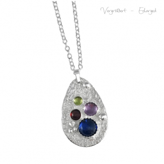 Handmade Silver and Gemstone Pendant