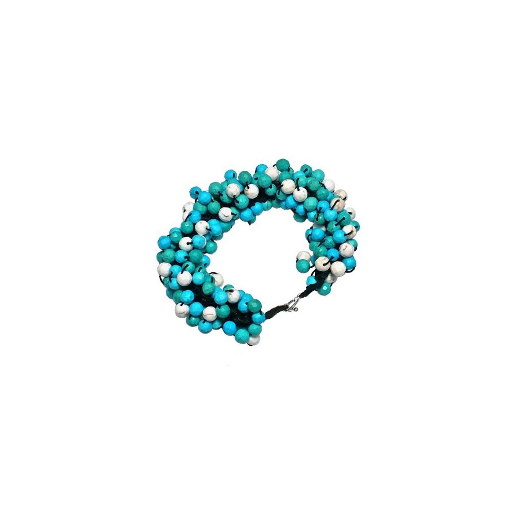 Handmade Howlite Statement Bracelet