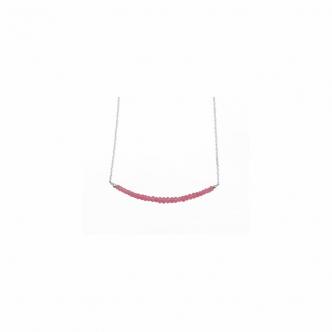 Pink Spinell Handgearbeitete Edelstein Sterling Silber Kette