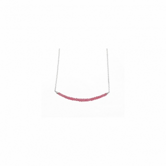 Pink Spinel Handmade Sterling Silver Necklace