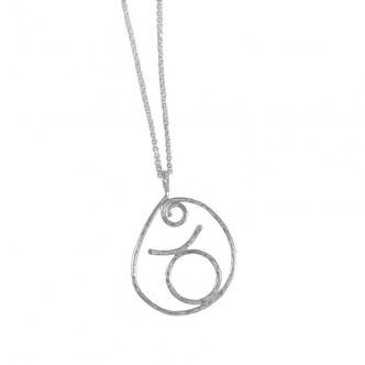 Stier Sternzeichen Sterling Silber Anhänger mit Kette Handgefertigt