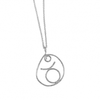 Taurus Star Sign Zodiac Handmade Sterling Silver Necklace Pendant