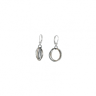 Sterling Silver Russian Wedding Style Earrings Handmade Oxidised