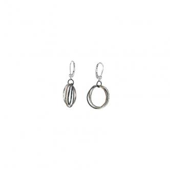 Sterling Feinsilber Silber Ohrringe Russian Wedding Ring Syle Oxidiert Handgefertigt Handgearbeitet