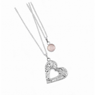 Layer Necklace, Heart and...