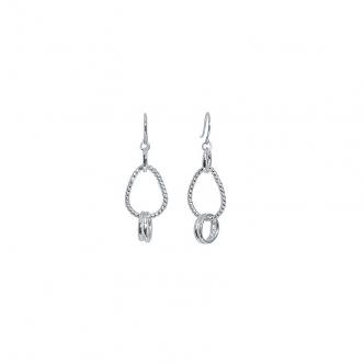 Sterling Fine Silver Wire Earrings Handmade 935