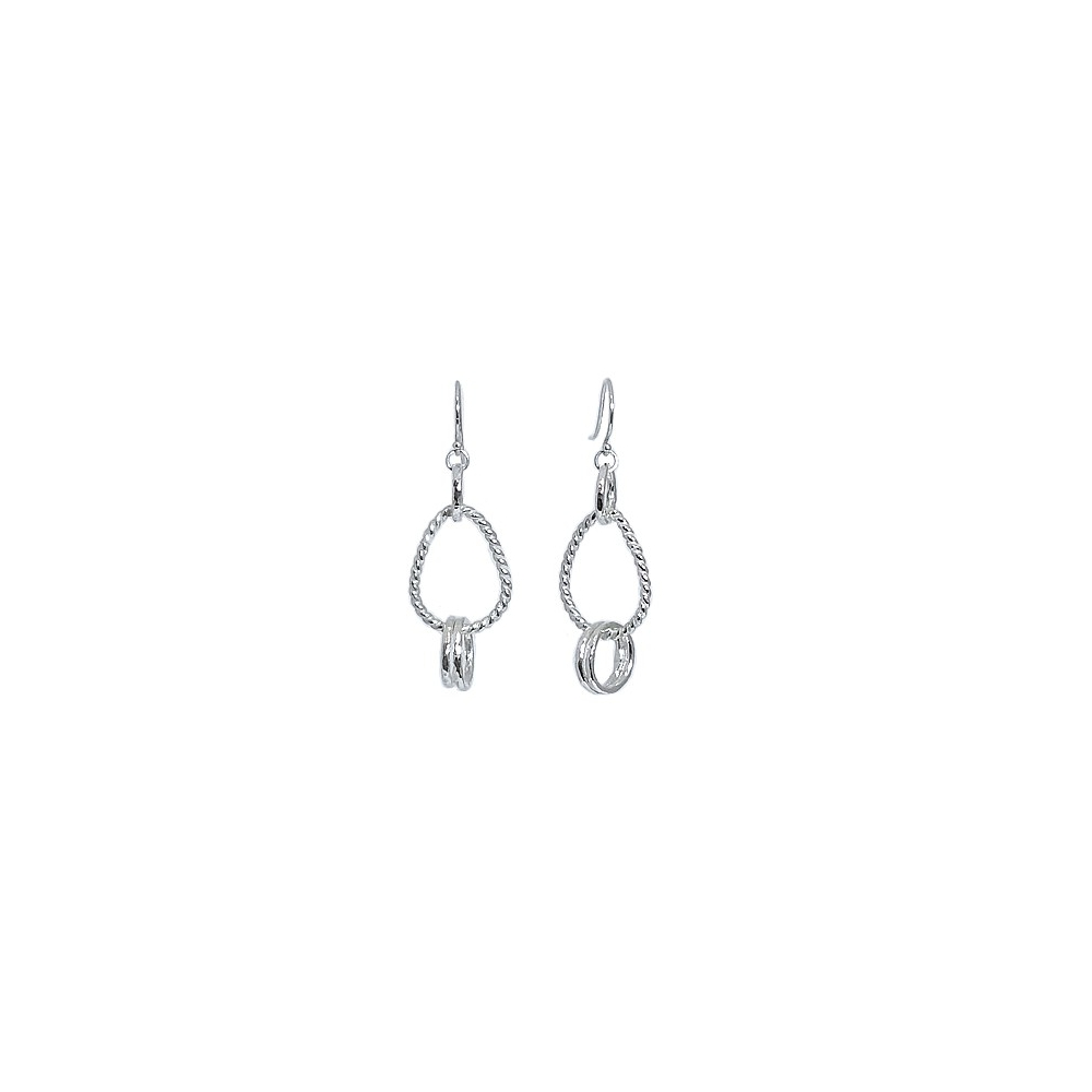 Sterling Fine Silver Wire Earrings Handmade 935