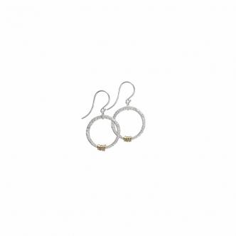 Ohrringe Loops Sterling Feinsilber Silber Gold Schwarz Handgefertigt Handgearbeitet