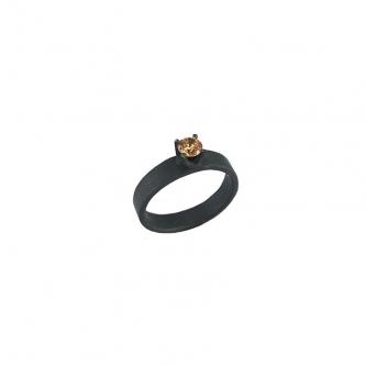 Sterling Silber CZ Ring Handgefertigt Handarbeit Oxidiert