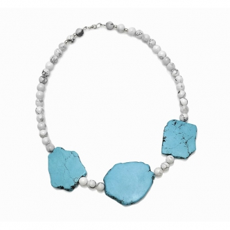 Howlite in Blue and White...