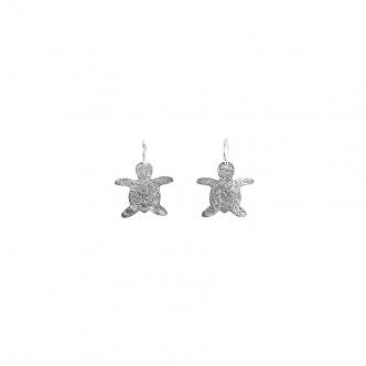 Sterling Silber 925 950 Schildkröte Tier Ohrringe Handgefertigt Handgemacht