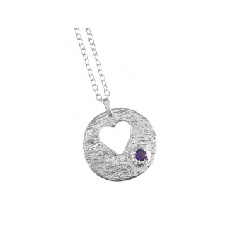 Silver Sterling Fine Heart Pendant Necklace Handmade