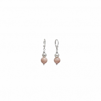 Earrings with Pink Opal and...