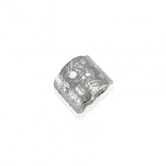 Silber Ring Feinsilber Sterling Massive Solide Handgefertigt Handgearbeitet Geschmiedet Metal Clay 999
