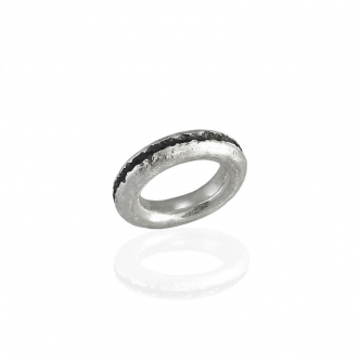 Massiver Feinsilber Ring, Cuts