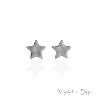 Sterling Silver Earrings Studs Star Handmade