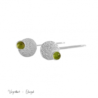 Earrings Silver Sterling 925 950 Peridot Gemstone Cabochon Handmade