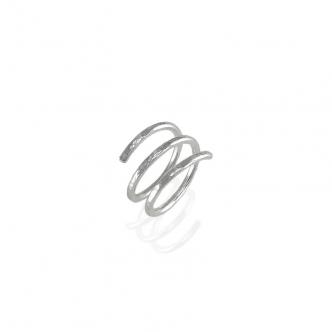 Double Wrap Sterling Silber Ring 935 Handmade Echtschmuck Goldschmiede