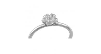 Mini Flower Ring, Sterling Silver